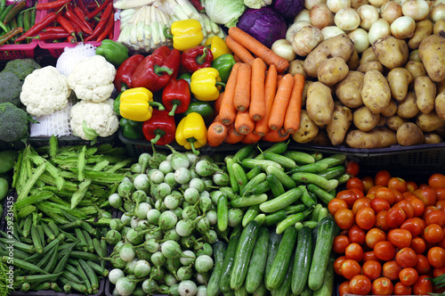 Fotografie, Obraz  various organic vegetables, farmers market
