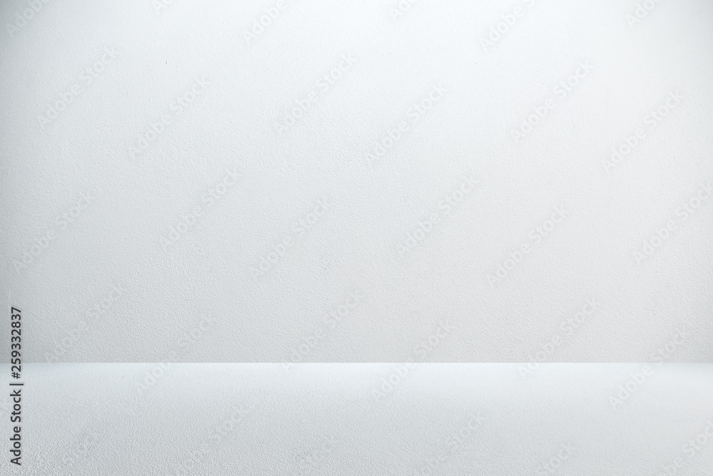 Fototapety, obrazy: Cement wall with floor in the empty room and light for background.