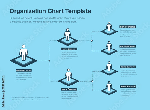 Company Organization Hierarchy Chart Template With Place For Your