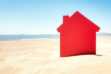 House On The Sand Beach Real Estate Or Vacation Rental