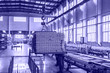 Mechanical equipment and finished products in workshop of aluminium alloy products factory