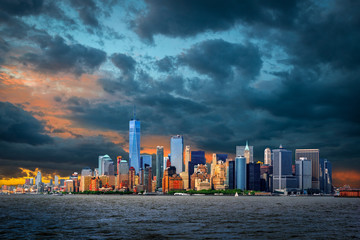 Widok na Manhattan, Nowy Jork, USA