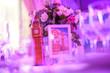 Leinwanddruck Bild - Bigben postcard and statue decoration on the table