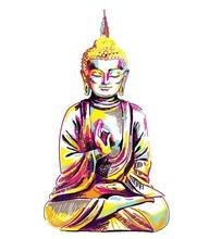 Buddha. Multicolored Stylish P...