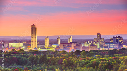 Valokuvatapetti Albany, New York, USA skyline