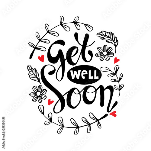 Vászonkép  Get well soon greeting card