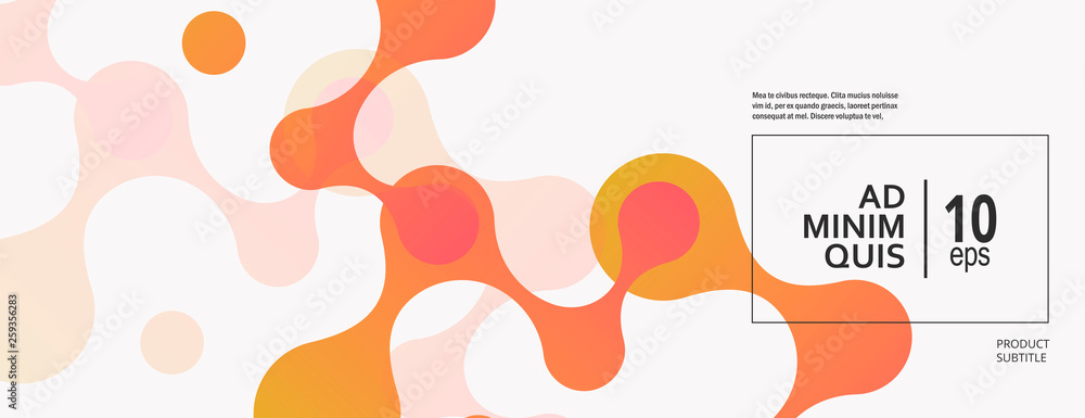 Fototapeta Abstract background with connecting dots and lines. Technology graphic design and network connection concept