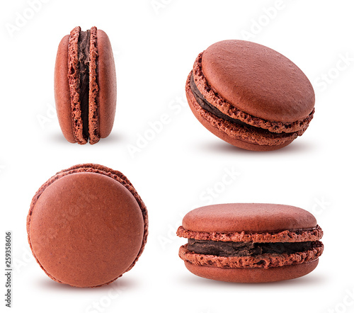 Macarons Set sweet chocolate macarons