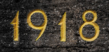 1918 Gravur In Stein