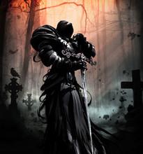 A Black Spirit In Plate Armor ...