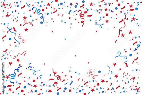 Foto op Canvas Carnaval Colorful confetti isolated. Festive vector background