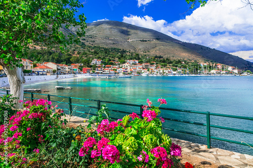 Beautiful scenery of Kefalonia- scenic Agia Efimia village. Ionian islands of Greece