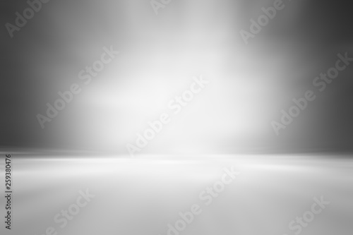 Fototapety, obrazy: 3D illustration background / Abstract gray empty room studio with spotlight  gradient used for background and display your product