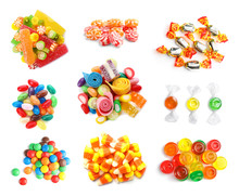 Set Of Different Tasty Candies...
