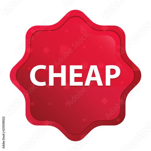 Fotografía  Cheap misty rose red starburst sticker button