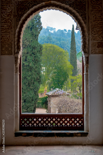 Canvas Prints Morocco old arched window