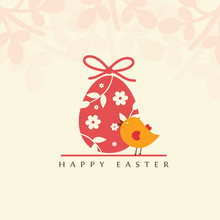 Easter Vector Greeting Card.