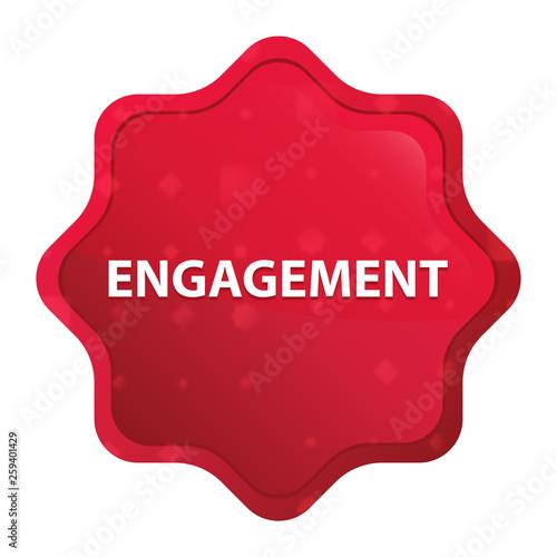 Photo  Engagement misty rose red starburst sticker button