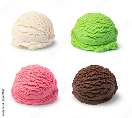 Photo  ice cream ball