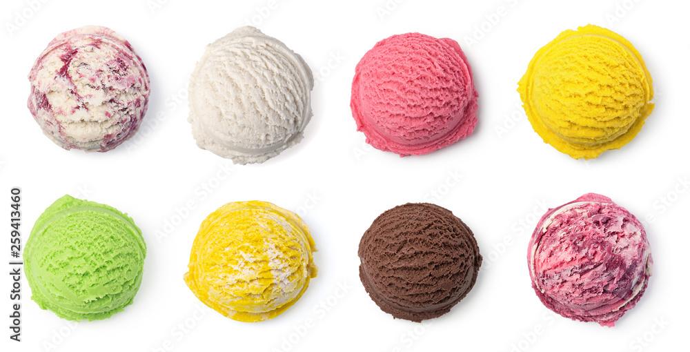 Fototapeta ice cream ball