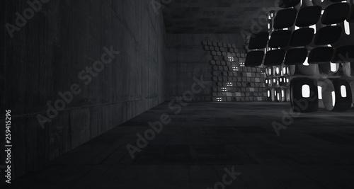 Fotografia  Empty dark abstract concrete room smooth interior