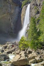 Lower Yosemite Falls In Yosemi...