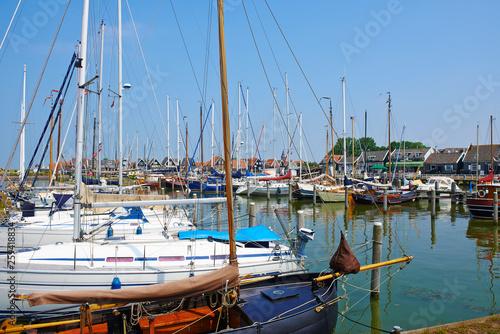 Foto op Aluminium Cyprus Sailing yachts moored in marina