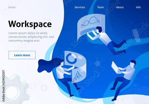 Service Banner Organized and Optimized Workspace Wallpaper Mural