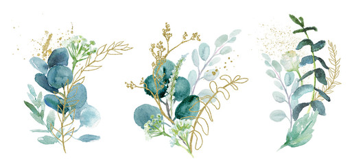 Watercolor floral illustrat...