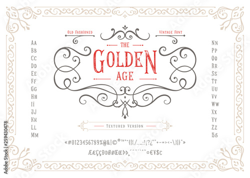 Photo THE GOLDEN AGE - Textured Version Font