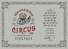 Font Wandering Circus. Hand Cr...
