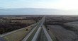 Aerial Drone MidWest US Highway