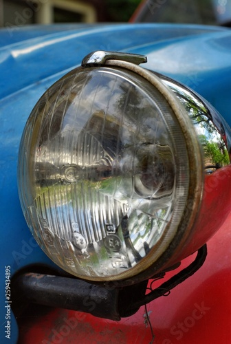 Canvastavla Car headlight Citroen 2CV