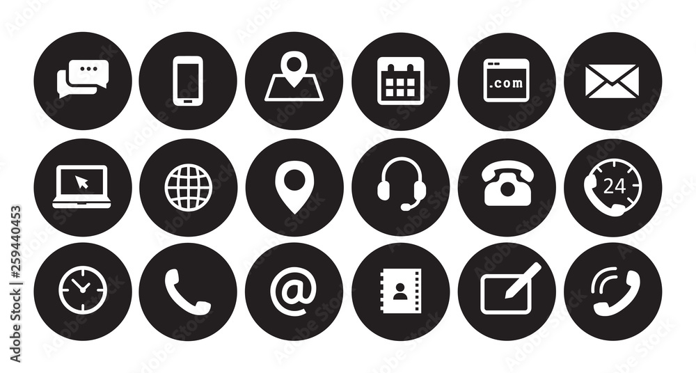 Fototapety, obrazy: Business icons black and white