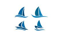 Vector Ship Logo Set