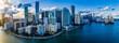 canvas print picture - Miami Skyline