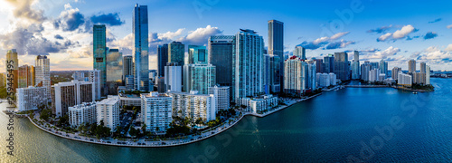 Poster Chicago Miami Skyline