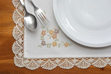 Tablecloth Napery With Flower ...