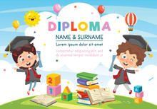 Vector Illustration Of Diploma Design