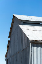 Old Corrugated Iron Wool Shed On Outback Station In Australia