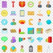 Online marketing icons set. Cartoon style of 36 onlinemarketing vector icons for web for any design