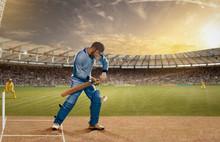 Batsman In Action In A Day & N...