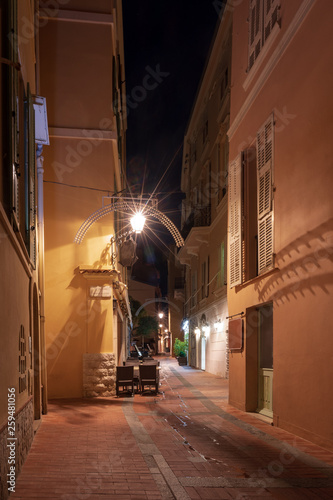Typical narrow street in Monaco-Ville old town