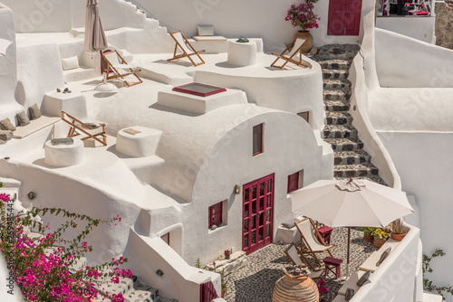 Foto auf Gartenposter Santorini View at Oia