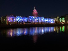 Custom House At Night (Christmas)