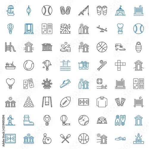 Fotografía  recreation icons set