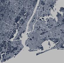 Map Of The New York City, NY, ...