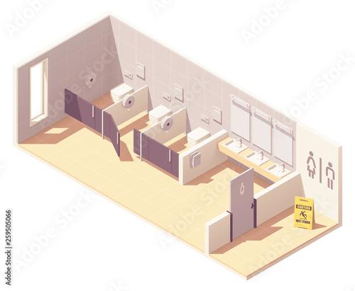 Tablou Canvas Vector isometric public female toilet room