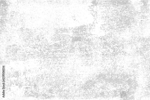 Fototapety, obrazy: Halftone monochrome grunge horizontal lines texture.