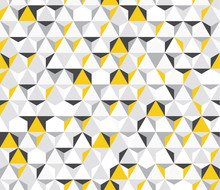 Irregular Vector Colorful Abstract Geometric Pattern With Triangles And Hexagons